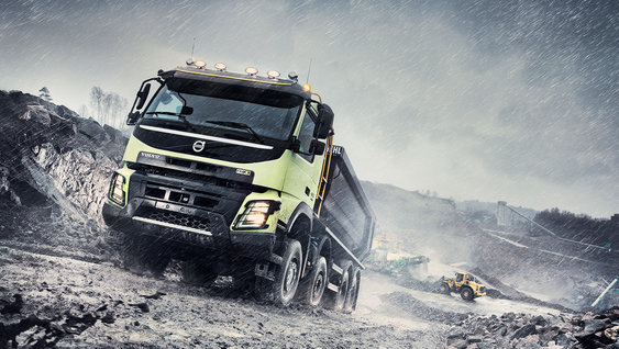 Volvo FMX trucks boast impressive ground clearance when fully laden